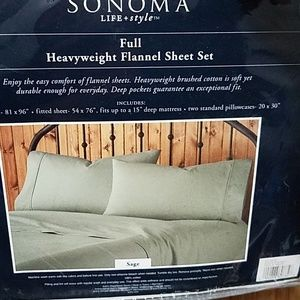 Sonoma full Heavy weight flannel sheet set